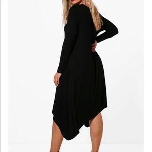 NWT Boo Hoo Asymmetrical Hem Dress